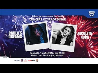 Nicoleta Nucă & Carla's Dreams, concert la Mioveni de Ziua Franței