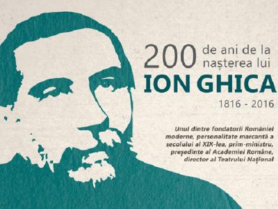 Ion Ghica, omagiat la Domeniul de la Ghergani cu prilejul împlinirii a 200 de ani de la nașterea sa