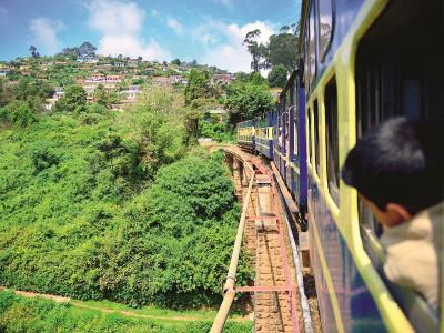 Cu trenul în India
