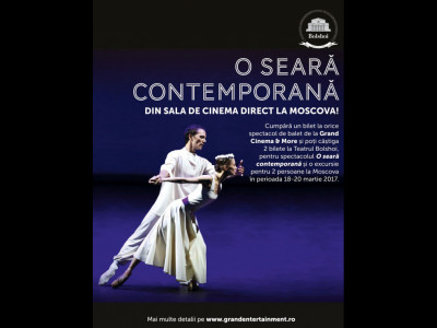 Din cinematograf, direct la Moscova! Cumpără bilete la transmisiunile exclusive ale Teatrului Bolshoi și poți câștiga o experiență culturală completă