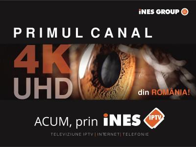 iNES GROUP lansează primul canal TV 4K/Ultra HD din România!