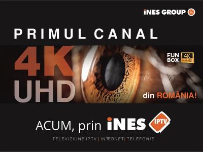 iNES GROUP a lansat primul canal TV 4K/Ultra HD din România!