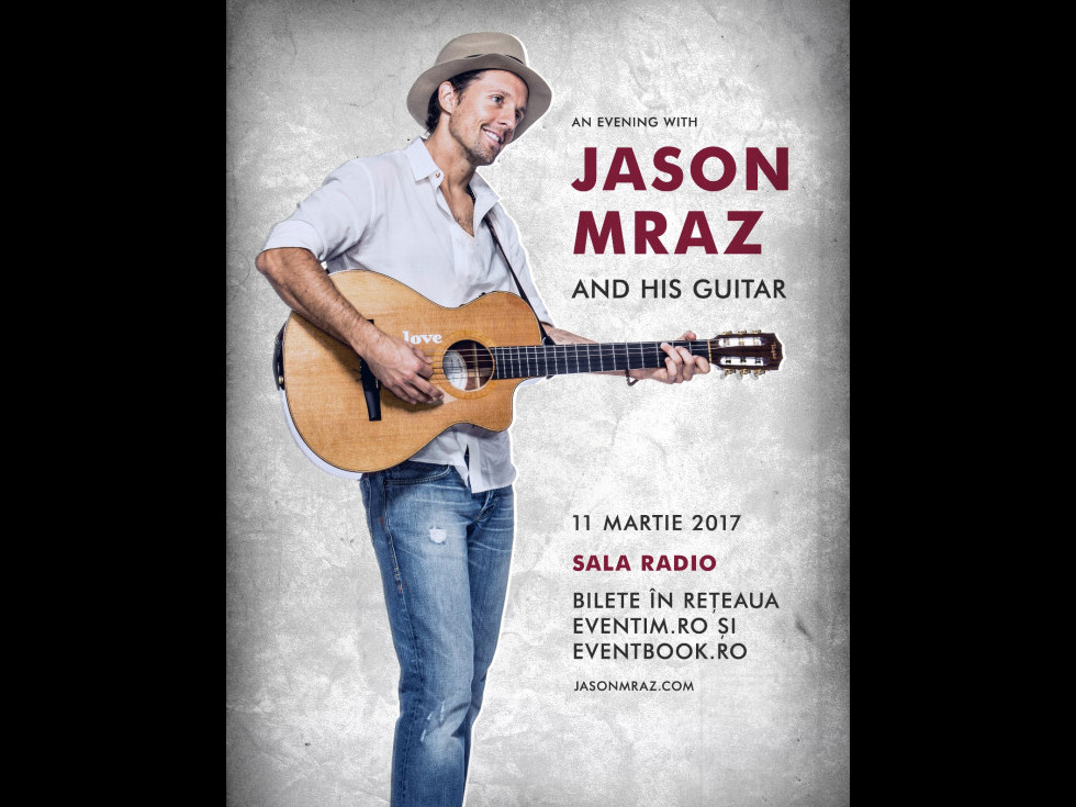 Jason Mraz concertează pe 11 martie la București