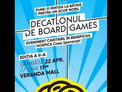 Veranda Mall va găzdui cea de-a doua ediție a evenimentului caritabil Decatlonul de Board Games