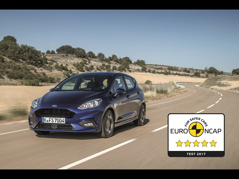 Noua generaţie Ford Fiesta, 5 stele Euro NCAP