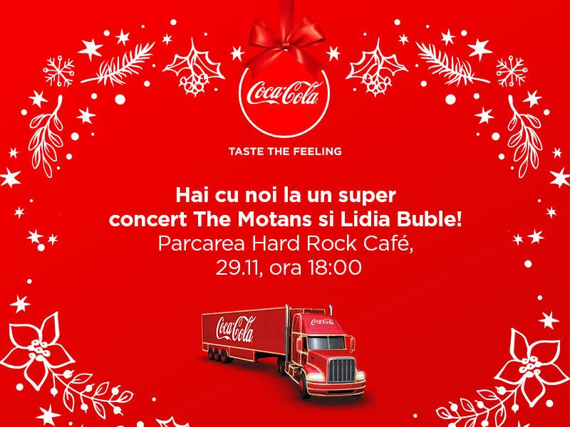 Caravana Coca-Cola: Magia Crăciunului, colinde, concerte și surprize speciale, din 29 noiembrie în București
