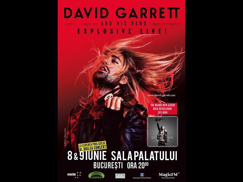 David Garrett va susține un al doilea concert Explosive Live