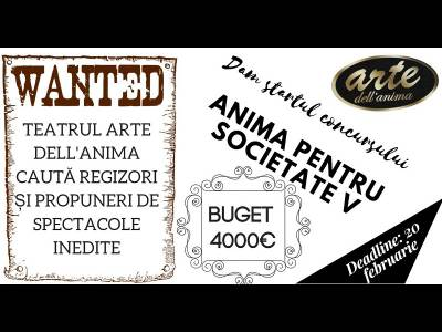 Concurs de proiecţie la Teatrul Dell' Anima