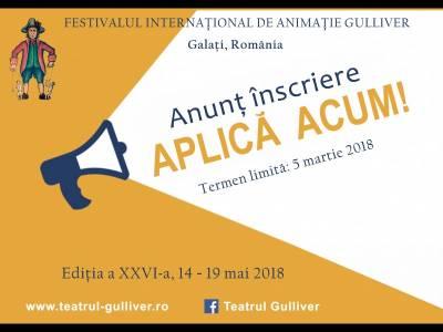 Festivalul Internaţional de Animaţie Gulliver 2018