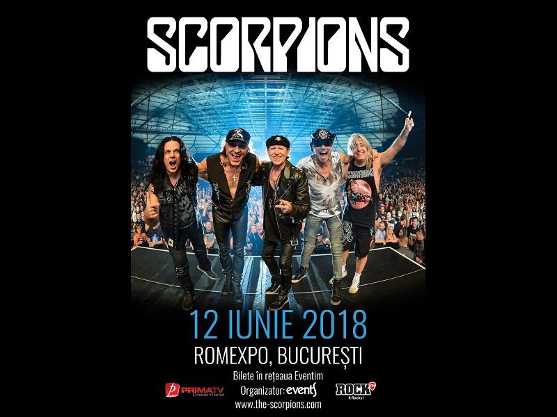 Crazy World Tour cu Scorpions, în iunie la București