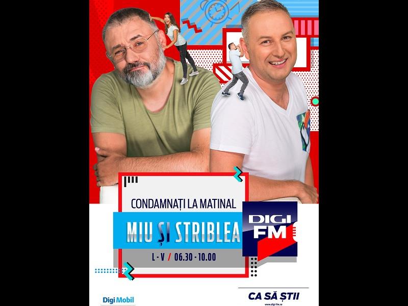 """Miu și Striblea – """"Condamnați la matinal"""" într-un nou sezon la DigiFM"""