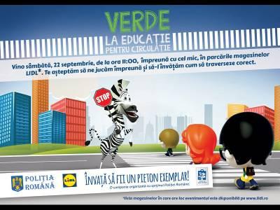 Lecții distractive de educație rutieră, în magazinele Lidl din întreaga țară