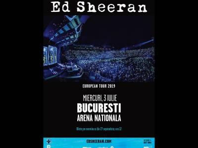Bilete la concertul Ed Sheeran din 3 iulie 2019, Arena Națională - București