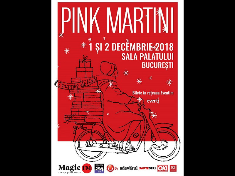 Pink Martini | 1, 2 decembrie 2018 | Sala Palatului