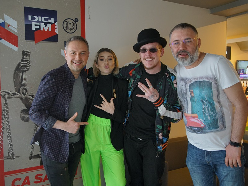 Lidia Buble și What's UP fără frigidere la Digi FM