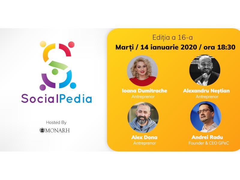 SocialPedia 16: Despre antreprenoriat și freelancing în online, cu Alex Dona, Alexandru Neștian, Ioana Dumitrache și Andrei Radu