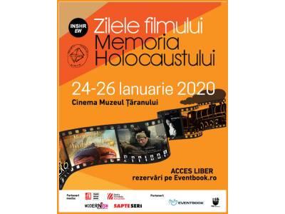 """Zilele filmului """"Memoria Holocaustului"""" la Cinema Muzeul Țăranului"""