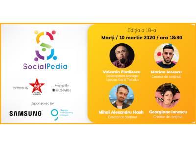 SocialPedia 18: Video Marketing cu Valentin Pintilescu, Marian și Georgiana Ionescu și Mihai Alexandru Hash