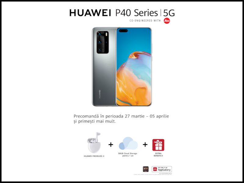 HUAWEI P40 Series, HUAWEI WATCH GT2e, HUAWEI Sound X și S/S '20 HUAWEI X GENTLE MONSTER se alătură portofoliului HUAWEI