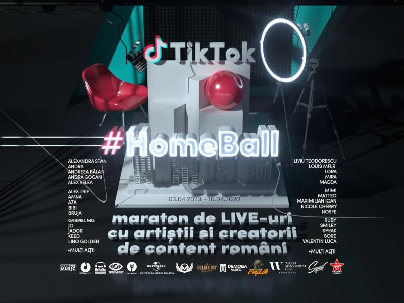 Cei mai cool artiști și creatori de conținut s-au unit pentru primul maraton de livestream-uri din România - TikTok HomeBall