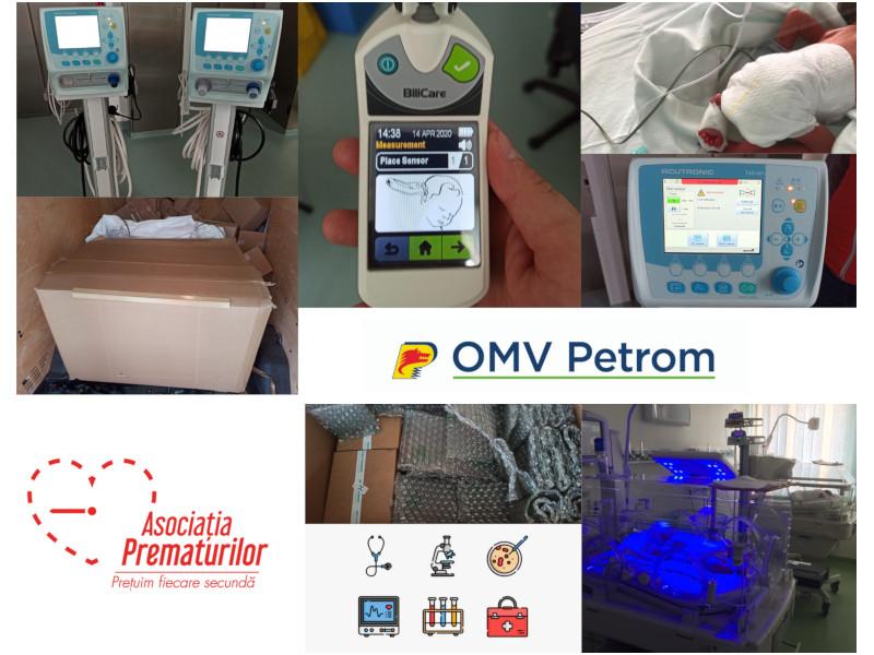 OMV Petrom sprijină Asociația Prematurilor în echiparea secției de neonatalogie a  Maternității Bacău