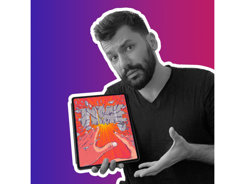 Sunt @illustrescu și desenez - Portret de TikToker