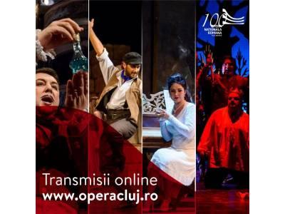 Opera Națională Română Cluj-Napoca transmite online spectacole extraordinare