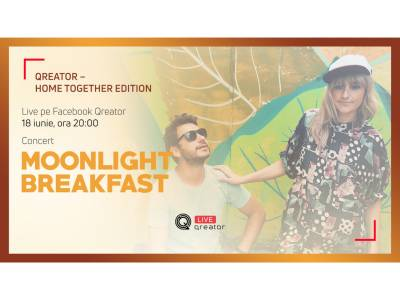 Concert live Moonlight Breakfast din Viena în cadrul Qreator – Home Together Edition