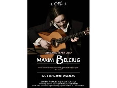Unrecital Maxim Belciug în aer liber