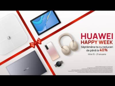 Huawei lansează Happy Week cu oferte speciale și reduceri de până la 40%