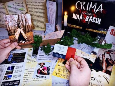 Un nou proiect românesc - boardgame-ul CRIMA DIN PĂDUREA BACIU