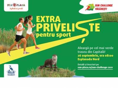 Sun Plaza te invită la mișcare, pe 26 septembrie.Vino să alergi la Sun Challenge,  pe cel mai verde traseu din București !