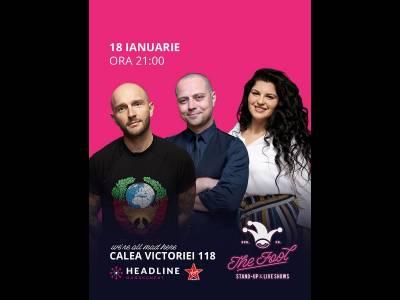 Stand-up comedy cu Bordea, Badea & Ioana State