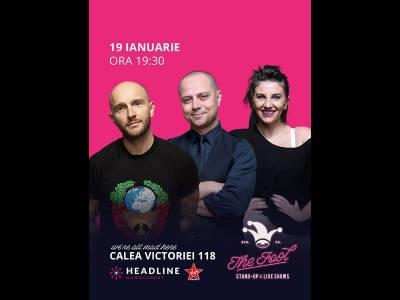 Stand-up comedy cu Bordea, Badea & Teodora Nedelcu 1
