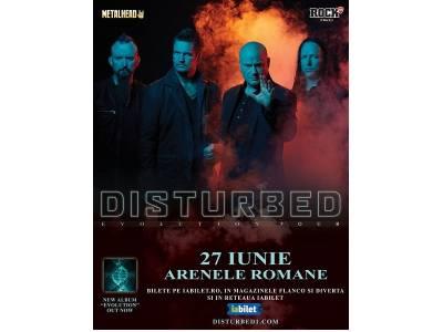Disturbed în premieră în România