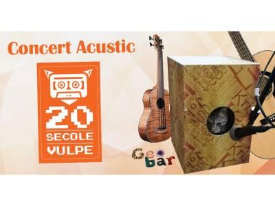 Concert Acustic - 20 Secole Vulpe @ Geobar