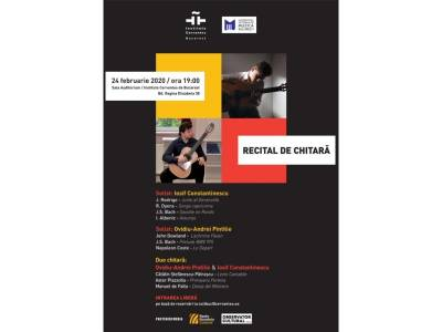 Recital de chitară: Ovidiu-Andrei Pintilie și Iosif Constantinescu